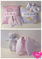 Детский набор Baby розовый и набор Baby голубой