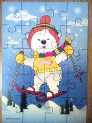 Пазл ''Мишка на лыжах''