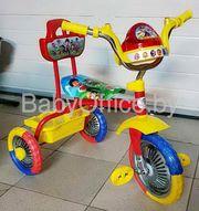 Велосипед 3-х колесный,  колеса 10 и 8 дюймов,  муз